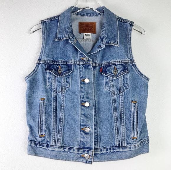 VTG Women's Levi's Denim Trucker Vest Made in USA